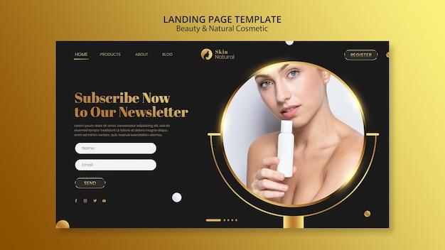 Landingpage für schönheit und naturkosmetik