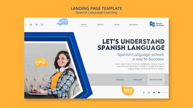 Landingpage für spanisch lernen