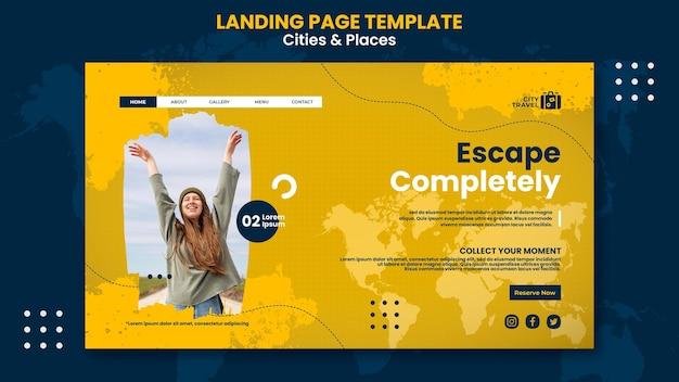 Landingpage für städte und orte