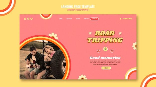 Landingpage für straßenfahrten