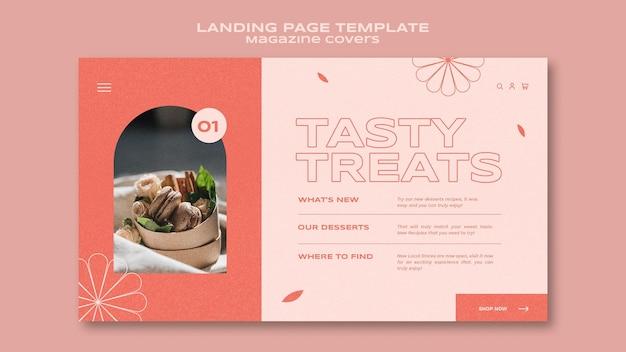 Landingpage für süßigkeiten und leckereien