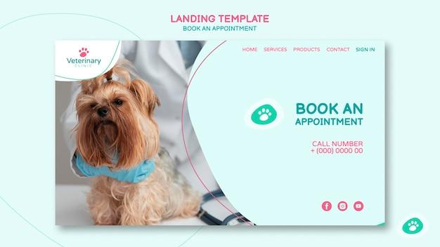 Landingpage für tierarzttermin