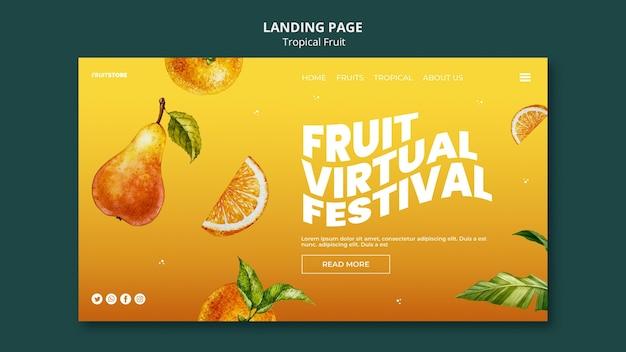 Landingpage für tropische früchte