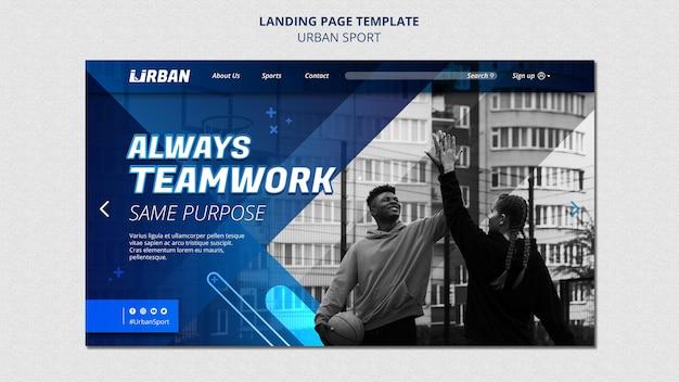 Landingpage für urbane sportarten