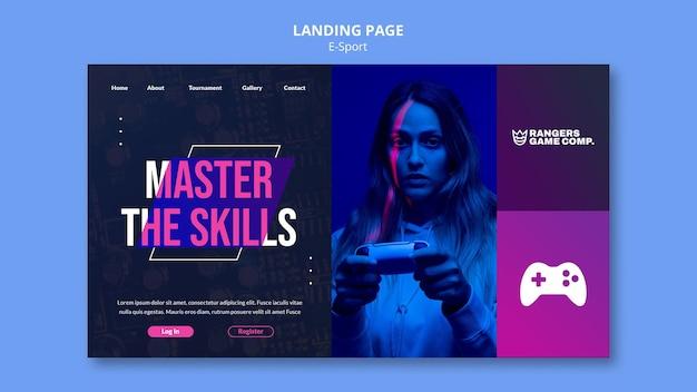 Landingpage für videospiele spielen