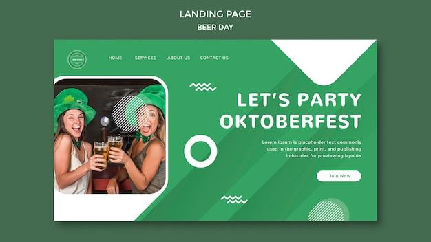 Landingpage-konzept für den biertag