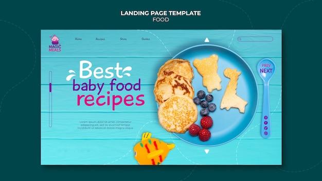 Landingpage mit den besten rezepten für babynahrung