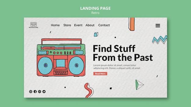 Landingpage mit retro-artikeln