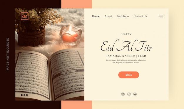 Landingpage ramadan karem glücklich ied al fitr