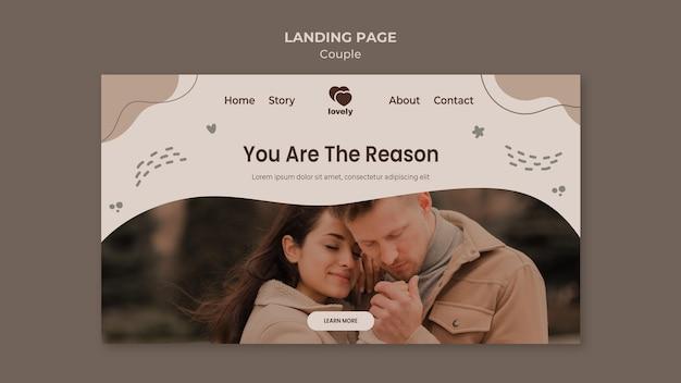 Landingpage-stil des paarkonzepts