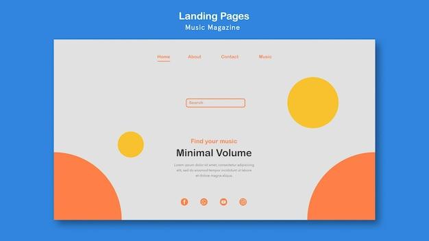 Landingpage-thema des musikmagazins