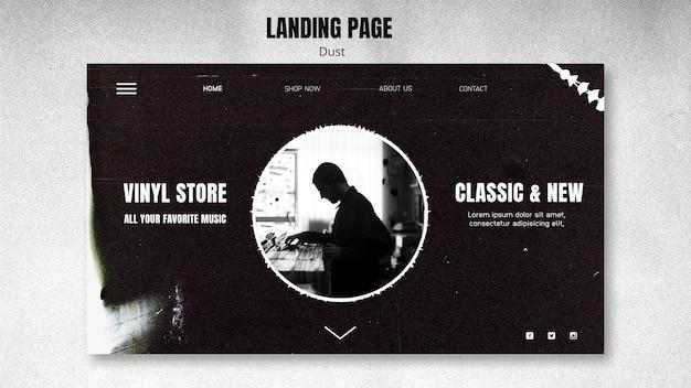 Landingpage vinyl store vorlage