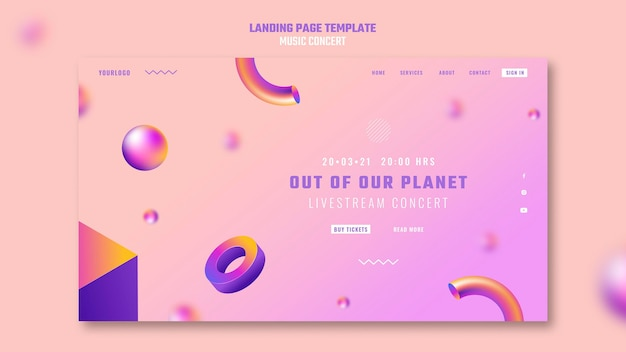 Landingpage von out of our planet musikkonzert