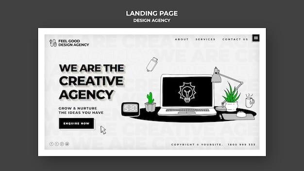 Landingpage-vorlage der designagentur