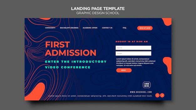 Landingpage-vorlage der grafikdesignschule