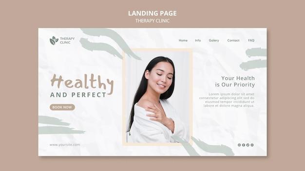 Landingpage-vorlage der therapieklinik