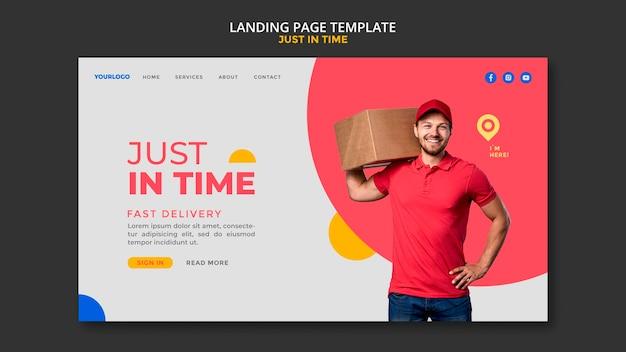 Landingpage-vorlage des lieferunternehmens