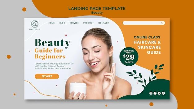 Landingpage-vorlage des schönheitskonzepts