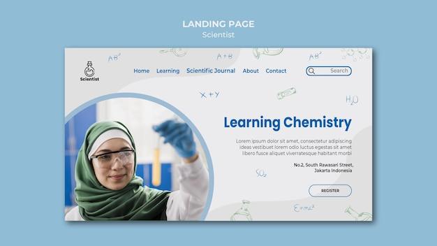 Landingpage-vorlage des wissenschaftsclubs