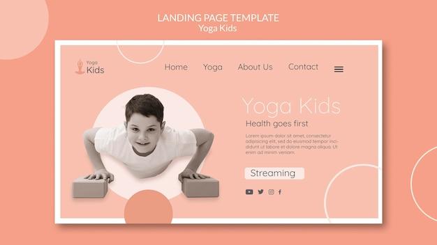 Landingpage-vorlage des yoga-konzepts