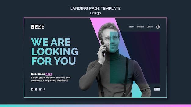 Landingpage-vorlage entwerfen