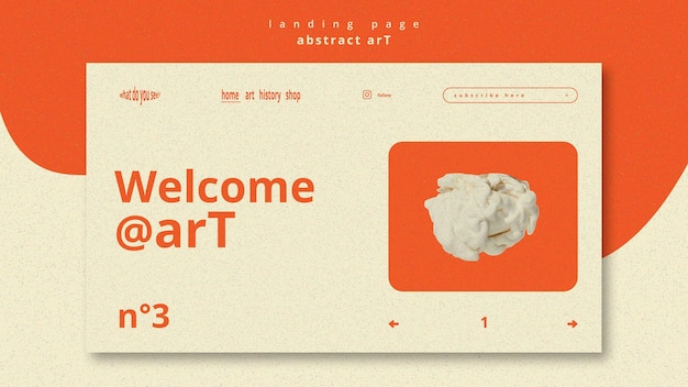 Landingpage-vorlage für abstrakte kunst