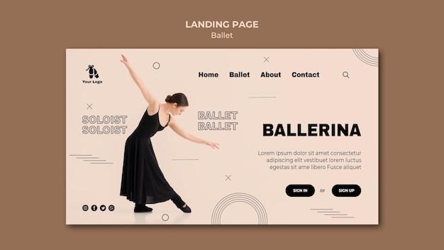Landingpage-vorlage für ballettkonzept