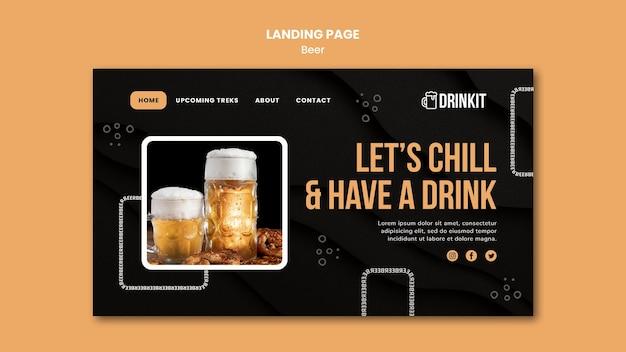 Landingpage-vorlage für bierkonzept