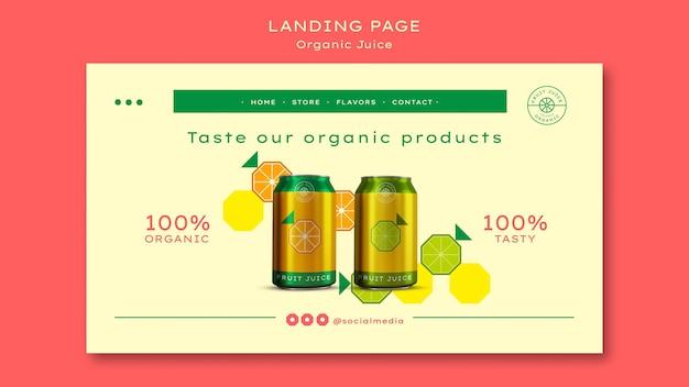 Landingpage-vorlage für bio-saft