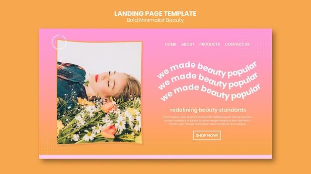 Landingpage-vorlage für bio-schönheitsprodukte