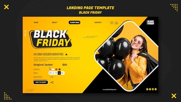 Landingpage-vorlage für black friday clearance
