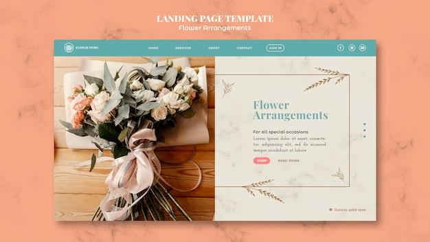 Landingpage-vorlage für blumenarrangements-shop