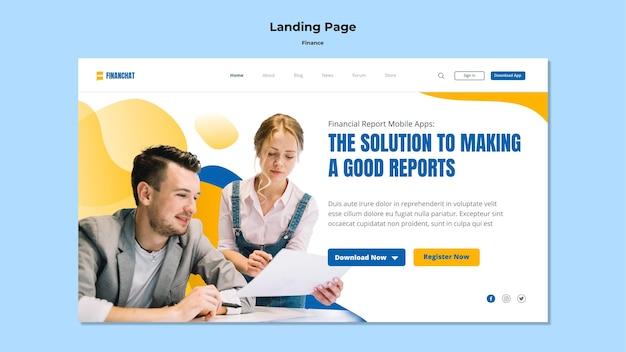 Landingpage-vorlage für business- und finanzseminar