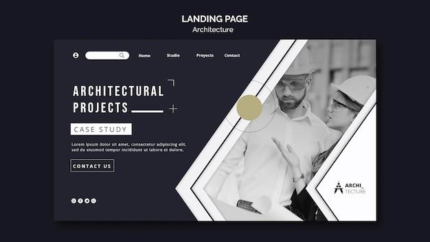 Landingpage-vorlage für das architekturkonzept