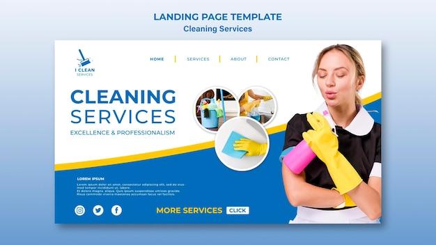 Landingpage-vorlage für das reinigungsservice-konzept