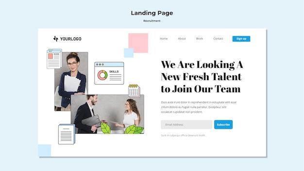 Landingpage-vorlage für das rekrutierungskonzept
