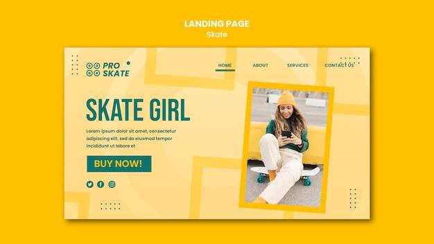 Landingpage-vorlage für das skate-konzept