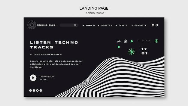 Landingpage-vorlage für das techno-musikfestival