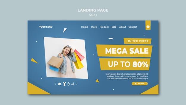 Landingpage-vorlage für den einzelhandel