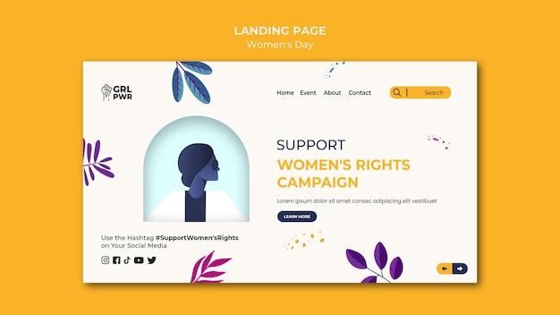 Landingpage-vorlage für den internationalen frauentag