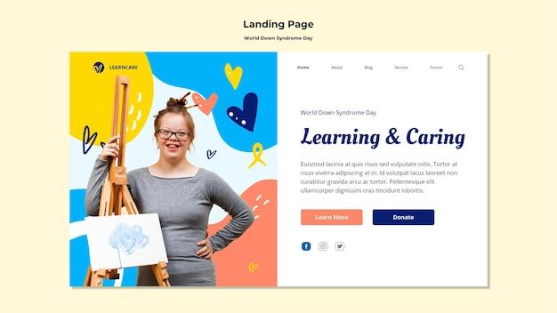 Landingpage-vorlage für den tag des world-down-syndroms