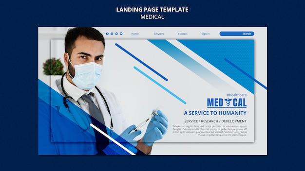 Landingpage-vorlage für die coronavirus-impfung