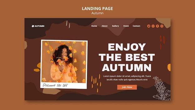 Landingpage-vorlage für die herbstsaison