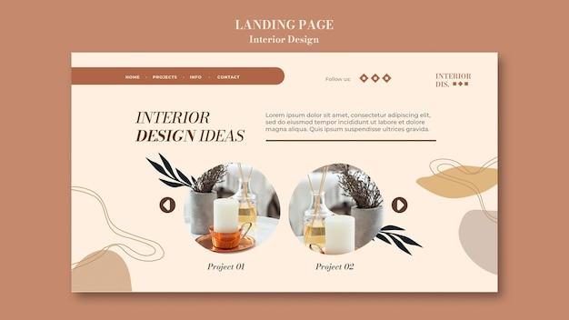 Landingpage-vorlage für die innenarchitektur