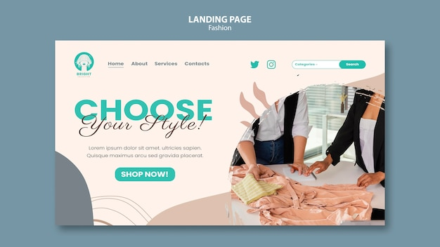 Landingpage-vorlage für die modekollektion