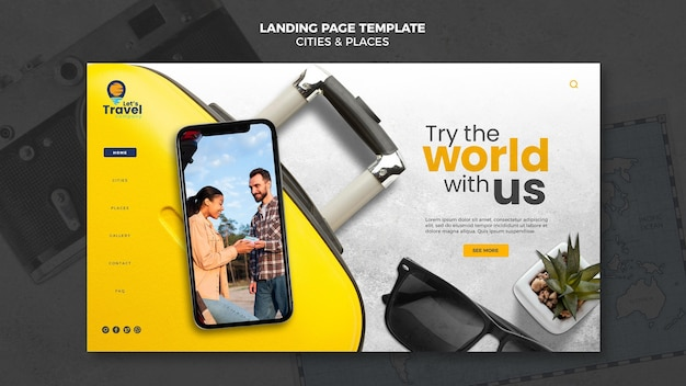 Landingpage-vorlage für die reisezeit
