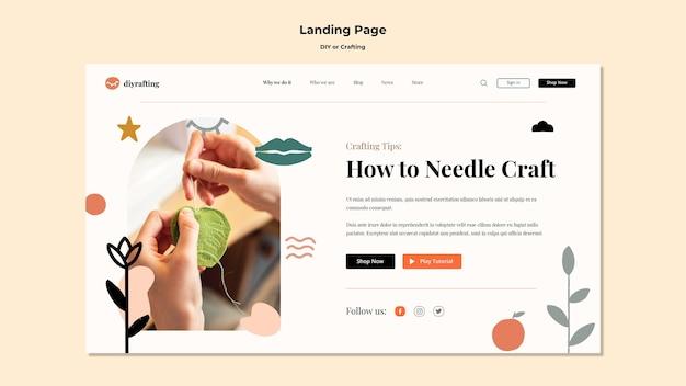Landingpage-vorlage für diy-tutorials