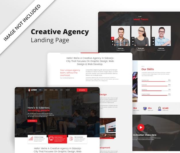 Landingpage-vorlage für eine kreative agentur