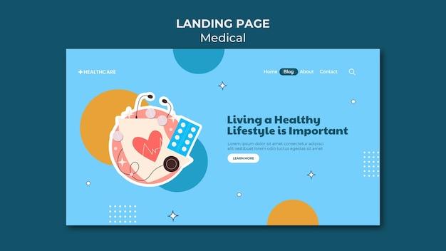 Landingpage-vorlage für einen gesunden lebensstil