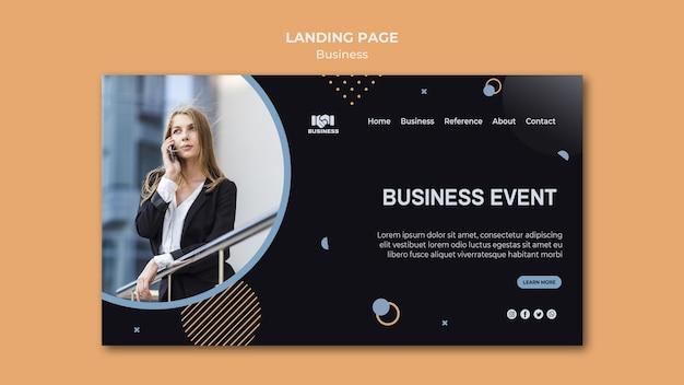 Landingpage-vorlage für geschäftsereignisse